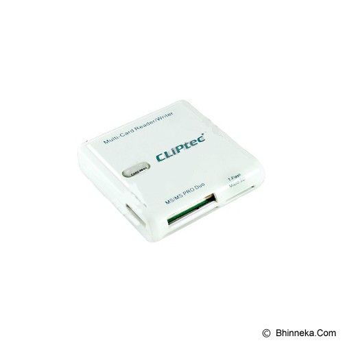 CLIPTEC All In 1 Card Reader [RZR502] - White - Memory Card Reader External